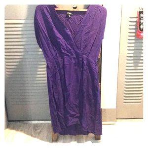 Lovely Mossimo purple faux wrap dress, size M